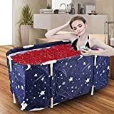 Portable Bathtub,Foldable Bathtub for Adults Freestanding Soaking Tub for 2 Person Non-Inflatable Bathtub for Showers with Cover Bath Bags
