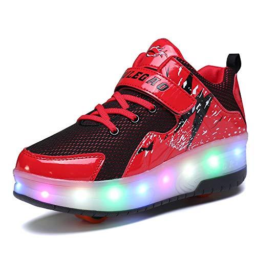 Yin Unisex kindersneakers met wielen LED-licht knipperen sport outdoor skateboard sneaker automatisch intrekbaar kinder/meisjes