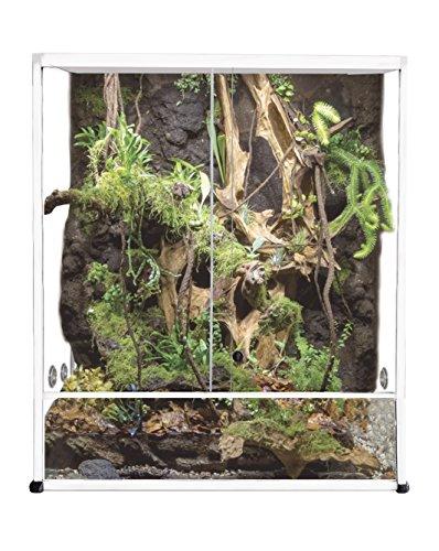 Reptiles Planet Aluminium Elegance Terrarium voor reptielen/amfibia, wit, 100 x 45 x 50 cm, 62,5 x 45 x 90 cm