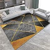 LBMTFFFFFF Alfombra de decoración para el hogar, estilo nórdico, con espacio sencillo, mármol, redacción rectangular, para salón, alfombra respetuosa con el padre, 80 x 120 cm