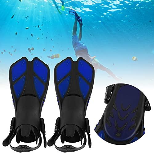 FECAMOS Aletas de natación largas, Aletas de natación Drenaje rápido Antideslizante Flexible para bucear para Hacer Snorkel(XL)