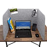 Acoustic Partition - Reduce Noise and Visual Distractions - Sound Absorbing Desk Divider - Desk Privacy Panel - Home Office - Classroom - Remote Learning - Sound Dampening (Gravel Grey)
