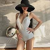 UXZDX Up Body Sexy Bikinis Blancos Traje de baño Retro de una Pieza Traje de baño Acolchado Mujer Traje de baño de Verano (Color : White, Size : Medium Code)