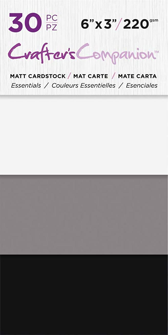 Crafter's Companion CC-PAD-MC-ESS 6x3 Luxury Pack (30 Sheets) Cardstock, Essentials