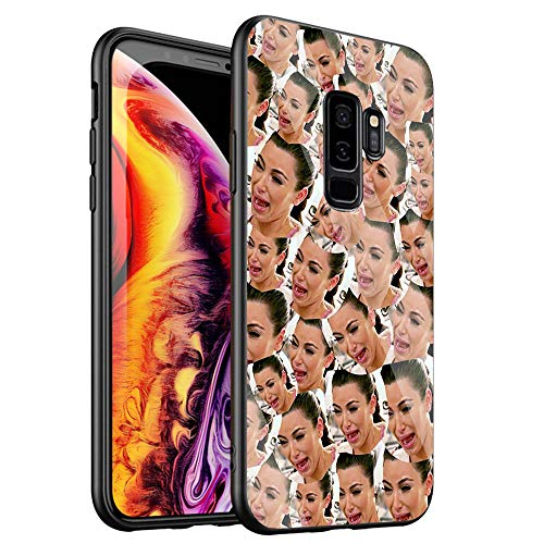 Phone Case for Samsung Galaxy Note 8,Tempered Glass Back Cover for Scratch and Fall Resistance DT-53 Kimoji Kim Kardashian North Kylie Jenner