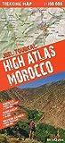 Alto Atlas de Marruecos, toubkal. Incluye mapas de Sahara occidental y Marrakech. Escala: 1:100.000. Mapa excursionista plastificado. terraQuest. (Trekking map)