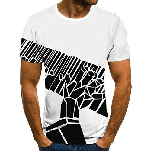 Zwarte Piano Keys Unisex T Shirt Zomer 3D Gedrukt Korte Mouw Wit Top Tee Hawaiiaanse Shirt voor Mannen Jongens Tieners