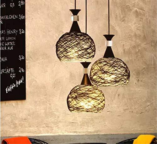 Warm Home soort ijzeren kroonluchter in industriële stijl, vorm van wijnglas Linea Design Europeo LED * 3 warm licht 7W kleur klassiek wit zwart (kroonluchter)