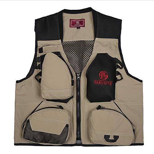 Hcxbb-7 Vliegen Vissersvest, Multi Pocket, Sneldrogend Winddicht Warm Vissen Suit, Heren Casual Outdoor Jacht Taillejas Dubbelzijdig Draag Jas Gilet