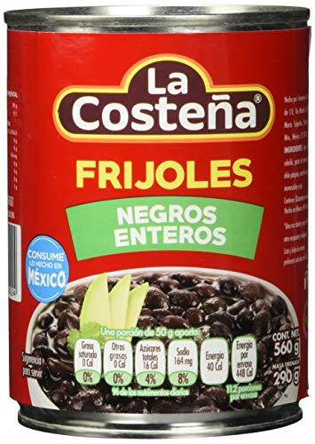 La Costena Bohnen schwarz ganz | 560 gr | Mexikanische Küche | Sättigend und Nährstoffreich | Für Mole, Salsas & Saucen | Ballaststoffreich & Proteinhaltig | Hervorragender Geschmack, 331012