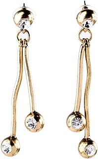 BGTKD Earrings Crystal Antique Gold Color Alloy Earrings For Women Vintage Drop Earrings