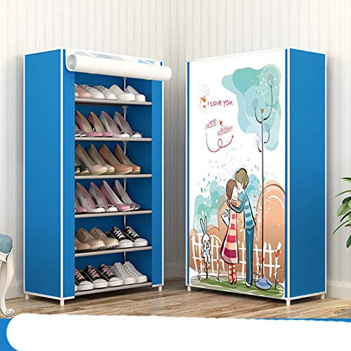 Nuevo a prueba de polvo hogar zapatero organizador múltiples capas zapatos estante titular puerta zapatero S espacio hogar almacenamiento dulce 6L