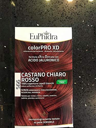 Euphidra Colorpro XD - Colorazione Permanente, 566 Castano Chiaro Rosso