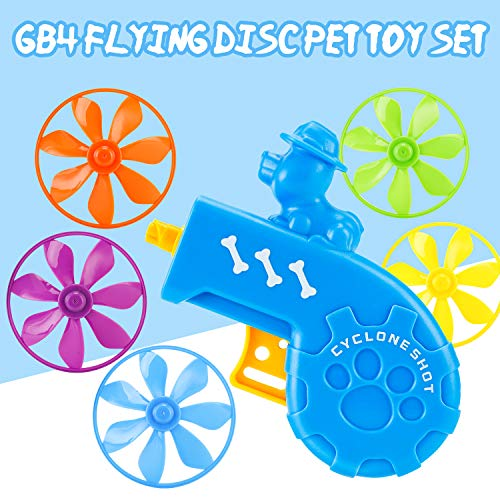GB4 Cat Fetch Toy  Cat Tracks Cat Toy  Fun Levels of Interactive Play Cat Toys with 5 Colors Flying Propellers Satisfies Kitty#039s Hunting Chasing amp Exercising Needs Blue