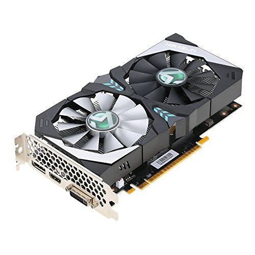 Docooler MAXSUN GeForce GTX 1050Ti Terminator Video-Grafikkarte 4G / 128bit GDDR5 1291-1392MHz / 7000MHz PCI-E 3.0 X16 DP + DVI Port 2 Lüfter