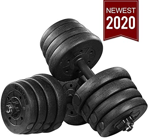 MOVTOTOP Dumbbells Set 66.14 LBS, Adjustable Dumbbells Set for Women and Men, Solid Steel Weights Dumbbells Barbell Set with Connecting Rod for Home Fitness
