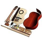 KEPOHK Todos los accesorios de material de guitarra clásica de madera individual Set 39inches PadaukClassical