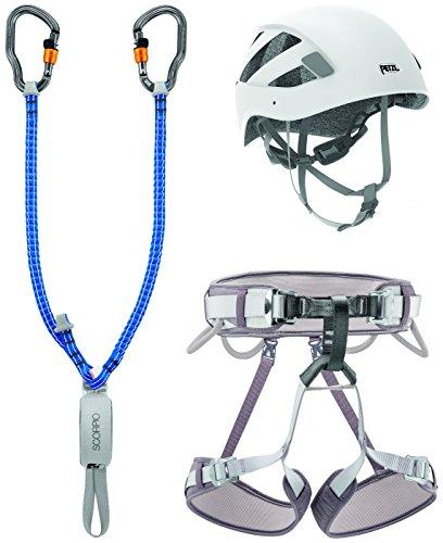 PETZL Unisex– Erwachsene Ferrata Vertigo Kletterset, Mehrfarbig, Größe2