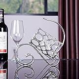 KMYX Belle mode brillante sac à main moderne vins de fer décoré salon/chambre/étude/comptoir/cave à vin 1 bouteille de vin argent 24 * 9.5 * 21CM