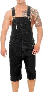 keepwo Mens Denim Overall Denim Stonewash Blue Jumpsuit Trousers Slim Fit Dungarees Jumpsuits