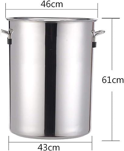 GL-kitchen supplies Tonneau en Acier Inoxydable Commercial avec Couvercle Baril Baril Tambour cuve à Soupe Grande capacité Long Baril épaississement approfondissement