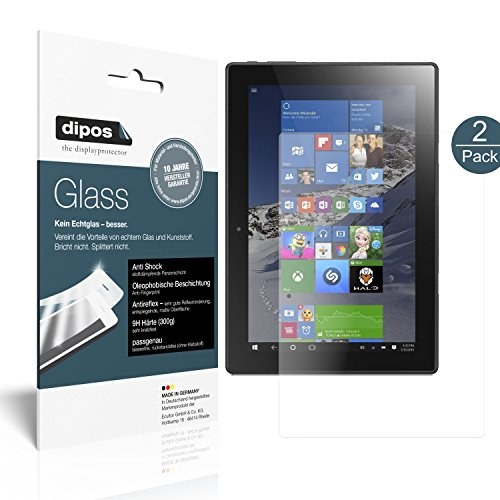 dipos I 2x Screen Protector matte compatible with Lenovo Miix 310 Flexible Glass 9H Display Protection