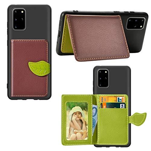 PROTECTIVECOVER+ / Galaxy S20 Plus Hoja Hebilla Litchi Titular de la Tarjeta de Textura PU + Funda TPU con ranura tarjeta y billetera y soporte y marco de fotos , Fashion Phone Funda Para Protector