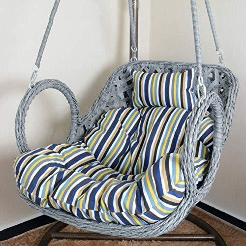 El columpio cesta colgante cojines de los asientos, colgando suavizar huevo Hamaca silla reclinable de ratón del jardín del patio del amortiguador Sin 100x85cm Stand-f (39x33inch), Tamaño: 100x85cm (3