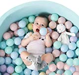 TRENDBOX 100 Ball - 5 Macaron Colors Pit Balls Non-Toxic Free BPA Soft Plastic Balls for Ball Pit Play Tent Baby Playhouse Pool Birthday Party Decoration