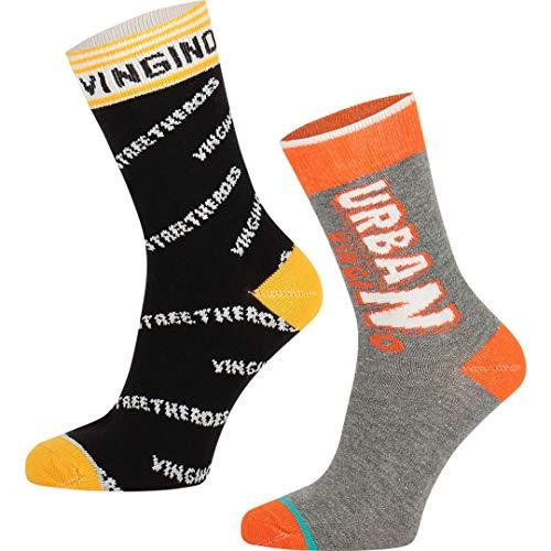 Vingino Viza Jungen Socken 2 Pack multicolor yellow (39-42)
