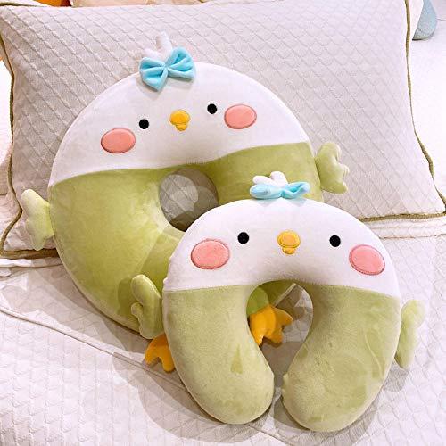 Pluchen Speelgoed Cartoon Slow Rebound U-vormig Nekkussen Kussen Mooie Butt Cushion-green_cushion 40cm