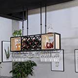 Wine Rack Wine Organizer Rack Wine Rack Bar Wine Glass Rack Hanging Hanging Wine Rack Creative Wine Cabinet Goblet Rack Wine Rack for Bars Restaurants Kitchens ( Color : Black , Size : 100*42*25cm )