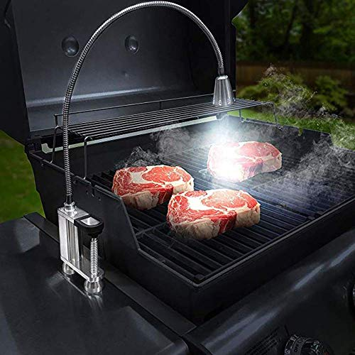 Magnetic BBQ Grill Light, 2 Installation Methods, 12 Led Super Bright Lamp, 24 Inch 360° Flexible Gooseneck, Battery Powered, For Outdoor Camping Barbecue