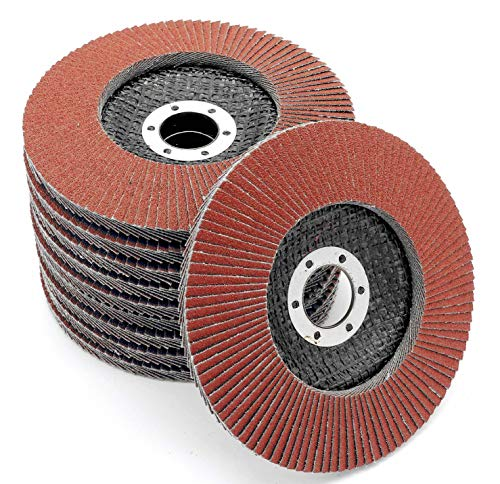 10pieza Disco de láminas (125mm, grano 80compartimentos lija marrón de...