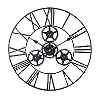 金属の壁のアールデコ、居間のオフィスのためのミュートギアローマ数字時計