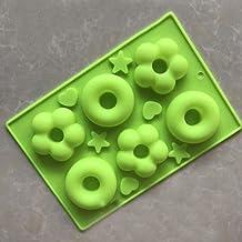 N/R 1 unid Caucho de Silicona Creativo Gadget de Cocina Herramientas para postres de Cocina Herramientas para Hornear, Verde Claro