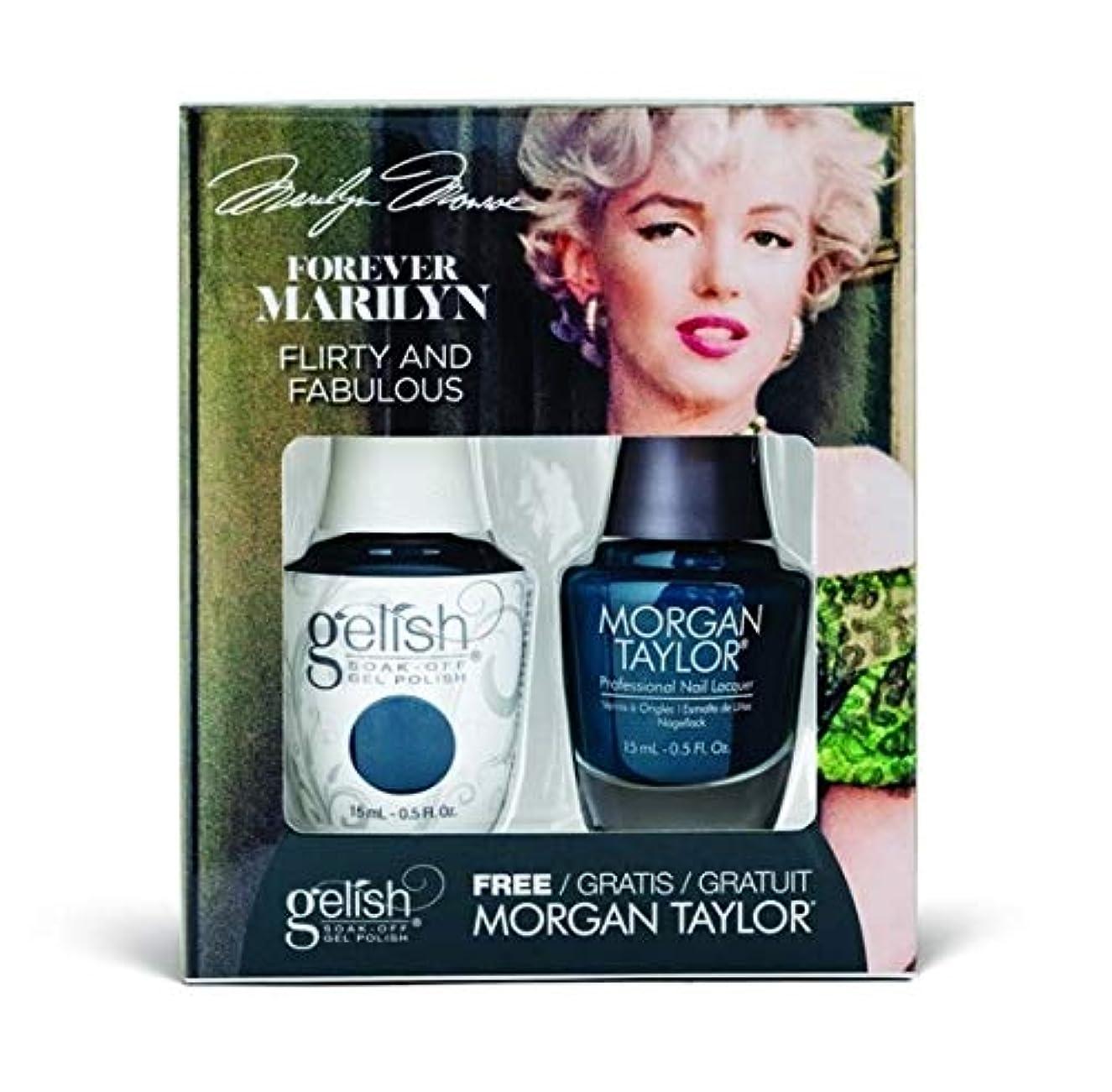 フクロウ学部公爵夫人Harmony Gelish - Two of a Kind - Forever Marilyn Fall 2019 Collection - Flirty and Fabulous - 15ml / 0.5oz