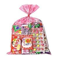 花柄袋 250円 お菓子 詰め合わせ (Bセット) おかしのマーチ (omtmafw250b)