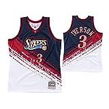WXMJ Iverson # 3 Sixers Jersey Men's Basketball Top, cómodo Chaleco Deportivo Camiseta sin Mangas | Transpirable y Secado rápido (S-XXL) L