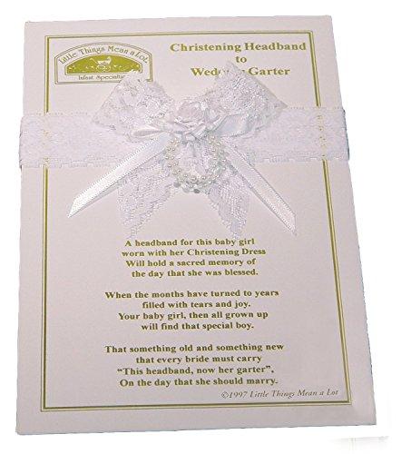 Tauf-Stirnband zur Hochzeit Strumpfband, weiß/Einheitsgröße -  Weiß -  Einheitsgröße