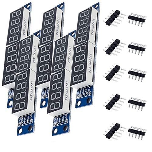 AZDelivery 5 x MAX7219 Led Modul 8 Bit 7-Segmentanzeige LED Display für Arduino und Raspberry Pi