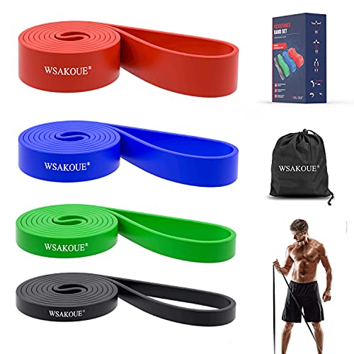WSAKOUE Pull Up Bands, Resistance Bands, Pull Up Assist Band Exercise Resistance Bands for Body...