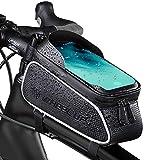 MECHHRE Fahrrad Rahmentasche Fahrrad Handyhalterung mit großer Kapazität Fahrradtasche Rahmen, Fahrrad Handytasche, Fahrradzubehör
