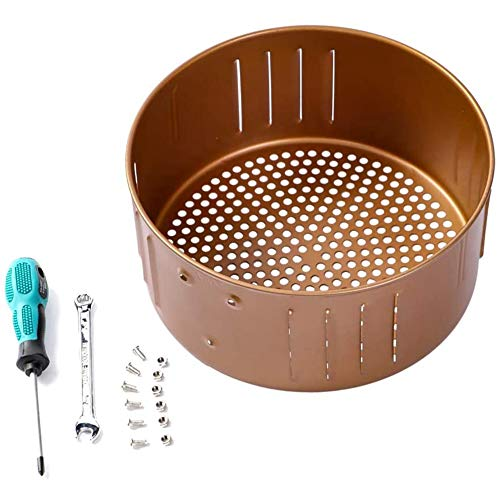 An image of the Fransande Air Fryer Replacement Basket 3.7QT for Power Gowise USA Air Fryer and All Air Fryer Oven, Non-Stick Fry Basket