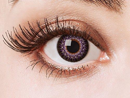 aricona Kontaktlinsen - Rose Kontaktlinsen ohne Stärke - Cosplay, Manga, Anime oder Steampunk Kontaktlinsen mit Ornament-Optik, 2 Stück