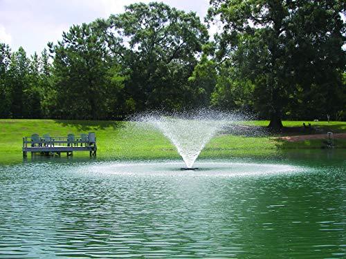 Kasco 3/4HP VFX Series Aerating Pond Fountain – 120V, single phase, 100 ft power cord – 3400VFX100 - display aerator