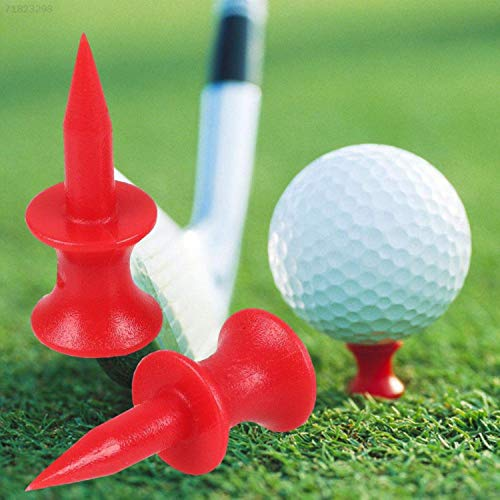 Castle Golf Tees Plastic Unbreakable Mixed Sizes or Same Heights Value 100 Count, Golf Practice Tee for Mats Stable Durable Size 1 1/2, 1 3/4, 2 2 1/4 2 3/4 Color Blue Yellow Pink Orange (Mixed Pack)