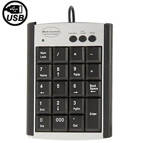 MINI PC Accessoire Gadget USB Niet-synchrone Notebook Computer Multi Functie Keypad Met 19 Toetsen, Ondersteuning: Besturingssysteem: Windows 98 SE/ME / 2000 / XP/Vista Mac OS 10.4 Abo