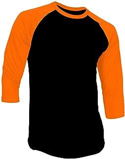 New Light 3/4 Sleeve Plain T-Shirt Baseball Tee Raglan Jersey Sports Men's Tee