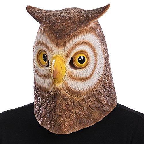 Carnival Toys 1494 Masker Uil, bruin, één maat
